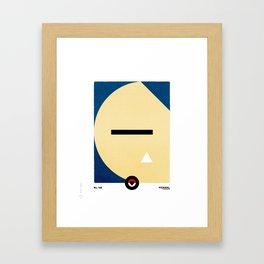 PKMNML #143 SNOR LAX Framed Art Print