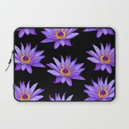 Lotus On Black Laptop Sleeve