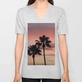 Atmospherics Number 3: Two Palms in the Sunset Unisex V-Neck