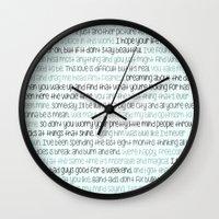 lyrics Wall Clocks featuring T.swift lyrics by AbbyGrace
