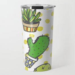 Potted Cactus Garden Travel Mug
