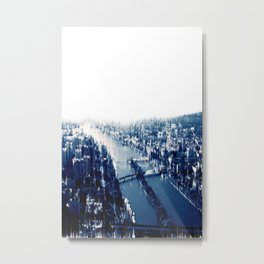 Distorted Paris Metal Print