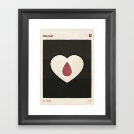 Bram Stoker's Dracula - Minimalist literary design, literary gift, bookish gift, illustration wall a Framed Art Print