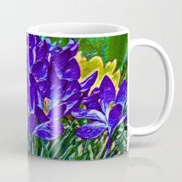 Siebers Crocus | Spring Flowers | Vivid Vioilet Oil Painting Coffee Mug