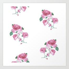 English Tea Roses Art Print