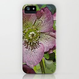HELLEBORES FLOWERS iPhone Case