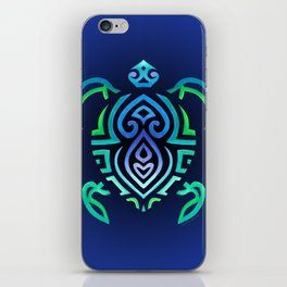 Tribal Turtle Ombre Background iPhone Skin