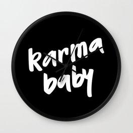 karma baby black Wall Clock