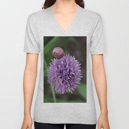 Wild Chive Flower Heads 2 Unisex V-Neck