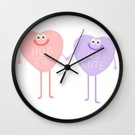 Candy Sweethearts  Wall Clock