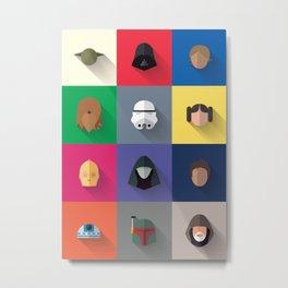 Icon Set Minimalist Poster Metal Print