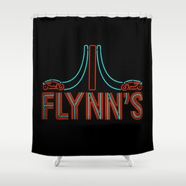 Flynns Place - Tron - Retro Shirts - Retro Arcade - Neon Sign Shower Curtain
