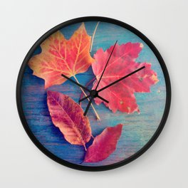 The Colors of Autumn Wall Clock