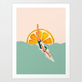 Girl Dive Art Print