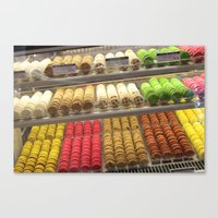 macaroon Canvas Prints featuring Macaroon world  by Annalise141