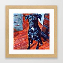 Morning with Tina Framed Art Print