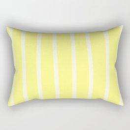 Butter Vertical Brush Strokes Rectangular Pillow