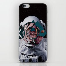 Spaceman oh spaceman, come rescue me (teal) iPhone & iPod Skin