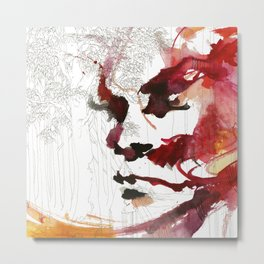 I'll give some burning colours to your white forest Metal Print