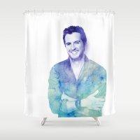 luke hemmings Shower Curtains featuring Luke by ThisTinyBean.