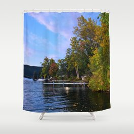 Autumn Arrives at the Lake Shower Curtain