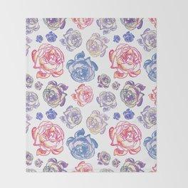 Gorgeous Floral Illustrative Pattern Throw Blanket
