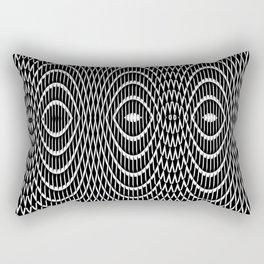 Texture black and white Rectangular Pillow