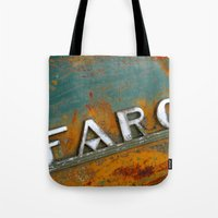 fargo Tote Bags featuring Fargo by Photo by Malin Linder
