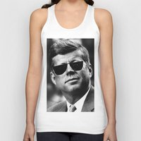 jfk Tank Tops featuring BE COOL - JFK by Johnny Late Night Designs ॐ