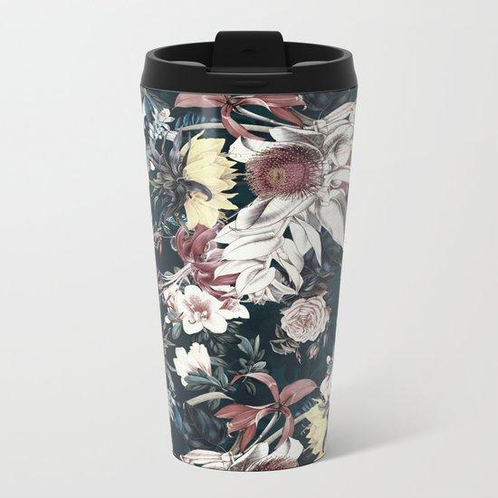 Flowers of Darkness Metal Travel Mug