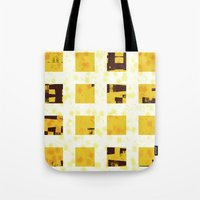 yellow pattern Tote Bags featuring Yellow by SensualPatterns