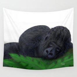 Sleeping Gorilla Wall Tapestry