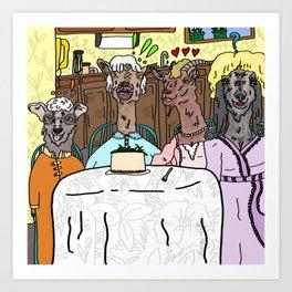 The Goaten Girls Art Print