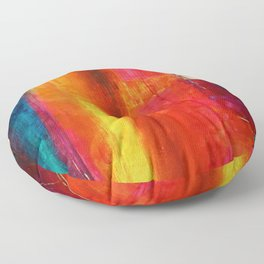 Philip Bowman Color Fields II Modern Abstract Art Painting Floor Pillow