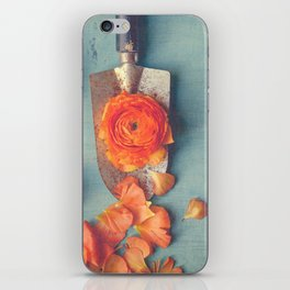 Grapefruit and Flowers iPhone Skin