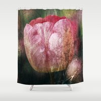 tulip Shower Curtains featuring Tulip by Maria Heyens