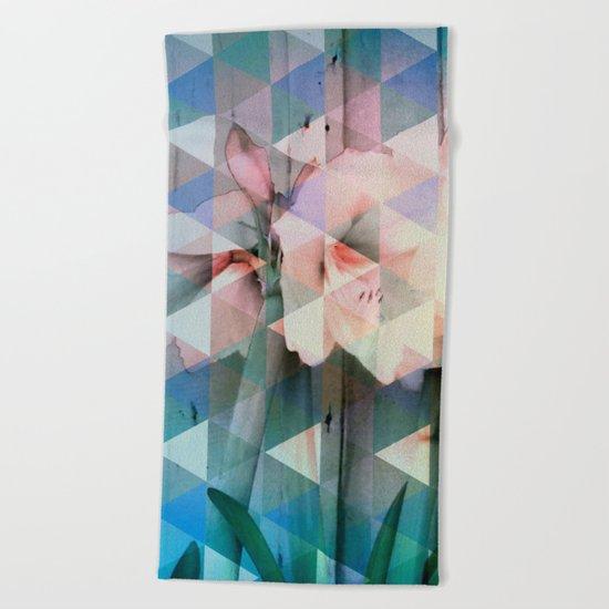 Flowers Mosaic Beach Towel
