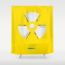 Polluted - Dinner Time Shower Curtain