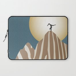 Moonlight Yoga over the Zebra Mountain Laptop Sleeve