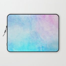 Baby Blue Pink Watercolor Texture Laptop Sleeve