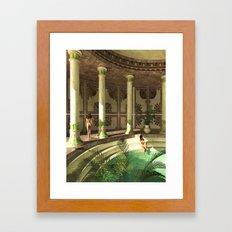 Greek bath beauties Framed Art Print