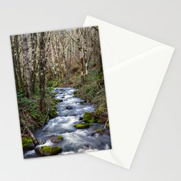 Oregon Mountain Stream and Alder Trees Stationery Cards
