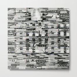 The System Affects The Information That Flows Through It (P/D3 Glitch Collage Studies) Metal Print