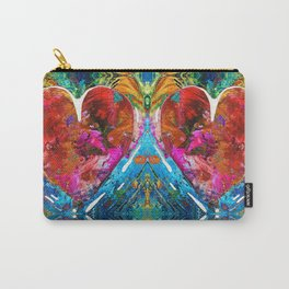 Colorful Heart Art - Everlasting - By Sharon Cummings Carry-All Pouch