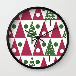 Christmas. Tree . Wall Clock