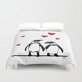 Love Penguins Duvet Cover