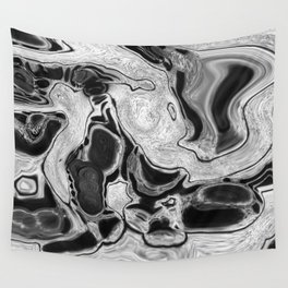 Dirty Paint Pour Digital Art Print Wall Tapestry
