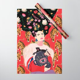 Let your mind blossom - Fashion portrait Wrapping Paper