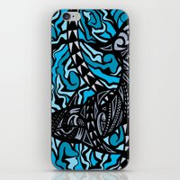 shark iPhone & iPod Skins featuring Shark by Lonica Photography & Poly Designs