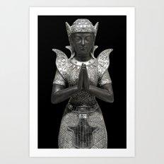 silent prayer Art Print